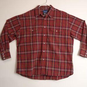 Wrangler Western 2XL Pearl Snap Shirt Long Sleeve
